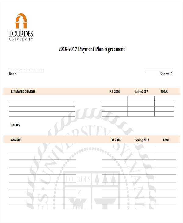 10 Sample Payment Plan Agreements