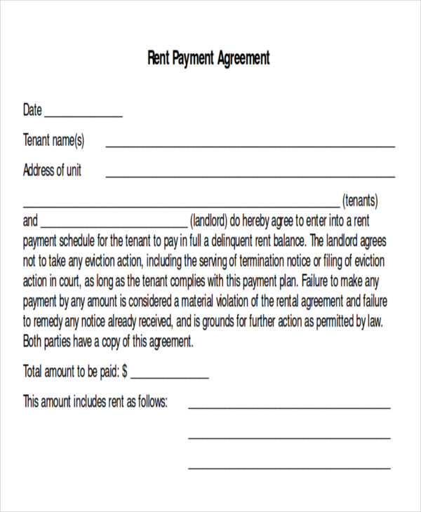 Sample Payment Plan Agreement - 9+ Examples In Word, Pdf