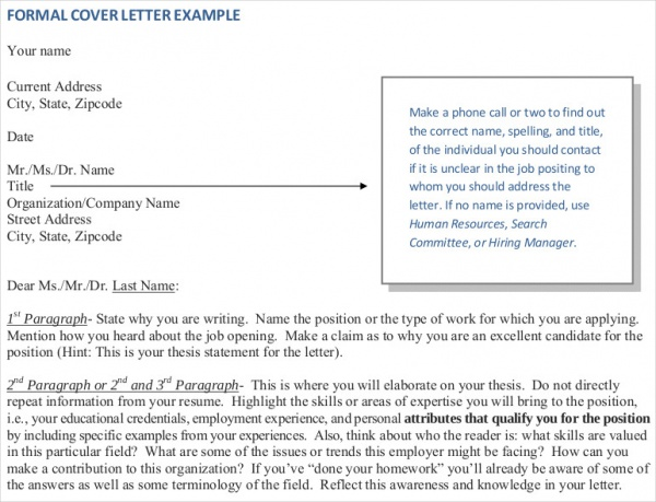 Sample Addressing a Formal Letter - 7+ Examples in Word, PDF