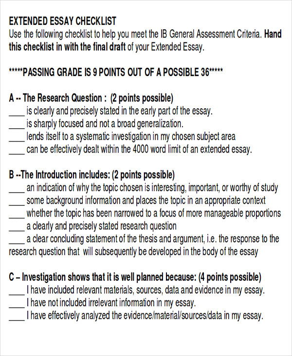 essay checklist assessment A variety of assessment tools and approaches, including rating scales, checklists, norm-referenced tests, portfolios, and observations, can be used to learn more about the child's strengths and challenges.