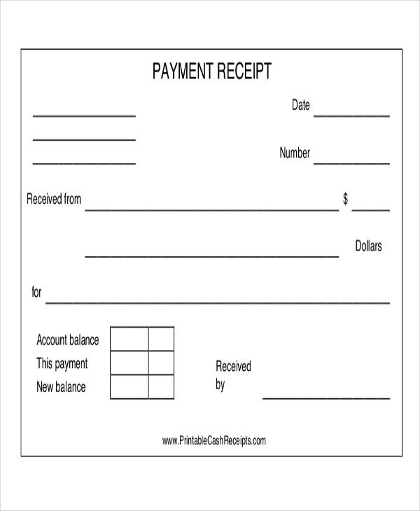 acknowledgement receipt of cash payment