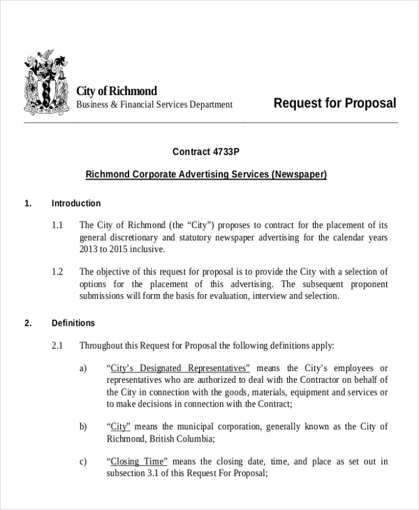 Sample Advertising Proposal Letter- 9+ Examples In Pdf, Word