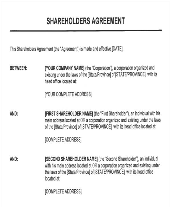 shareholder management agreement