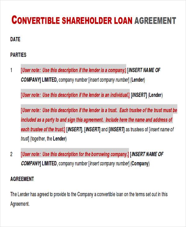 10 Sample Holder Agreements