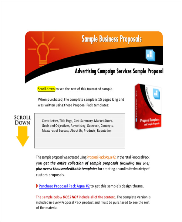 Sample Advertising Proposal Letter  Examples In Pdf Word