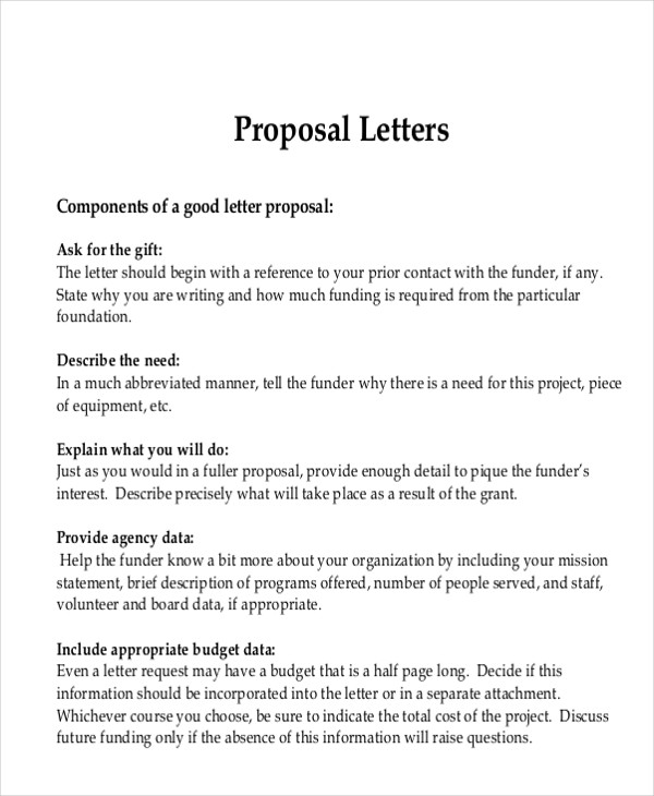Proposal Request Letter | 9 Sample Advertising Proposal Letters Pdf Word Sample Templates