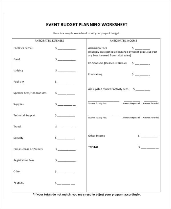 event planning checklist sample1