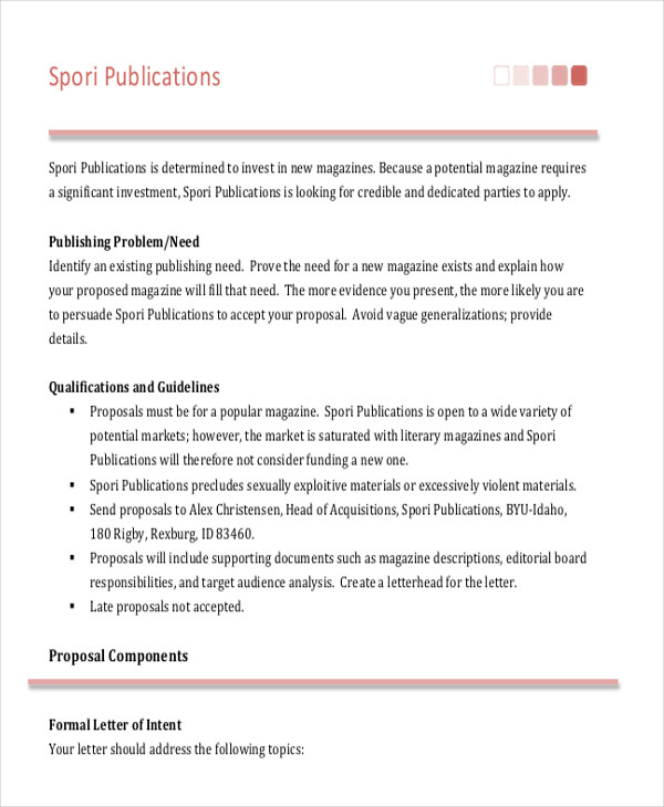 magazine advertising proposal letter