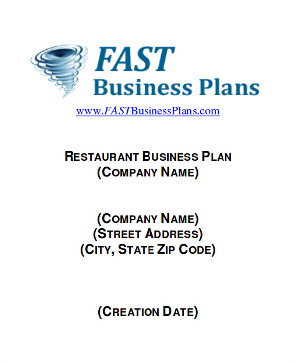 8 business plans sample free sample example format download