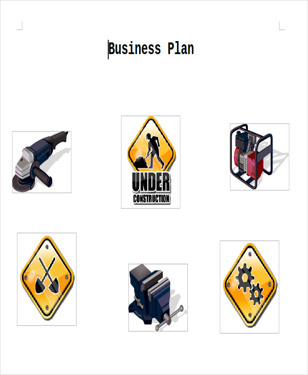 construction business plan sample doc