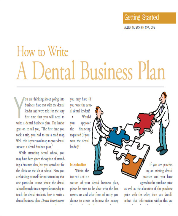 dental business plans sample pdf