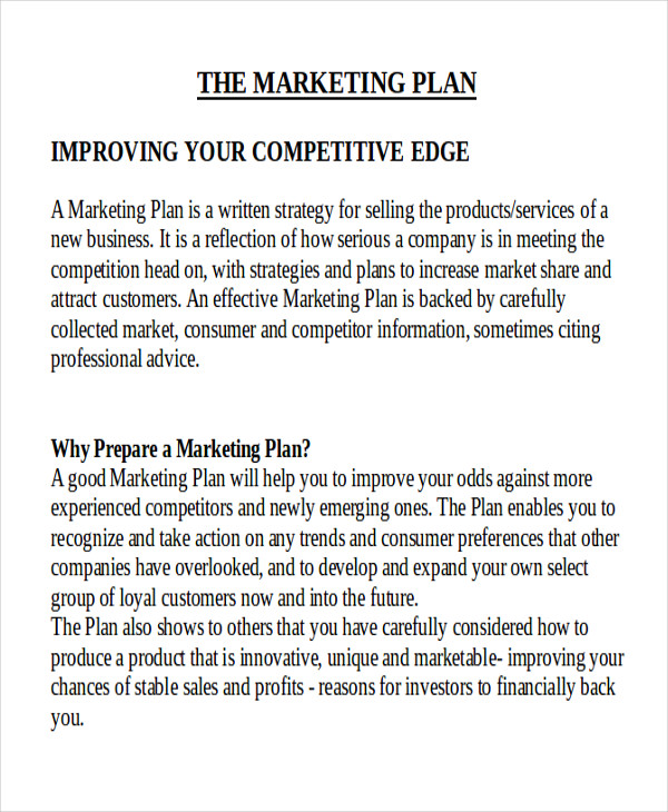 sample marketing business plan doc