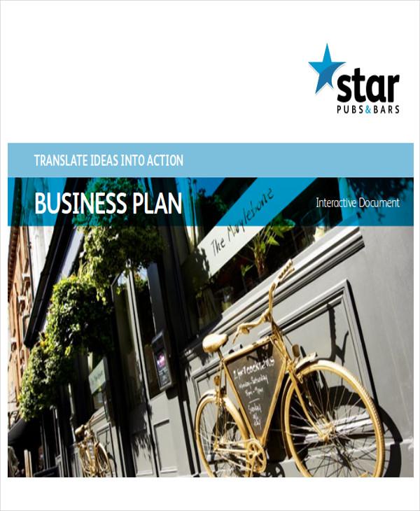 bar and restaurant business plan