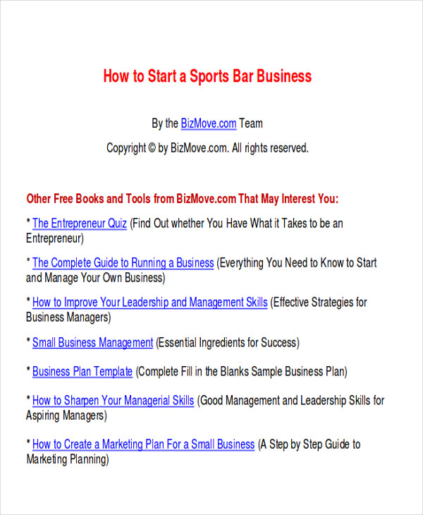7+ Sample Bar Business Plans
