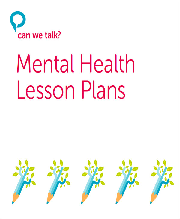 sample mental health lesson plan