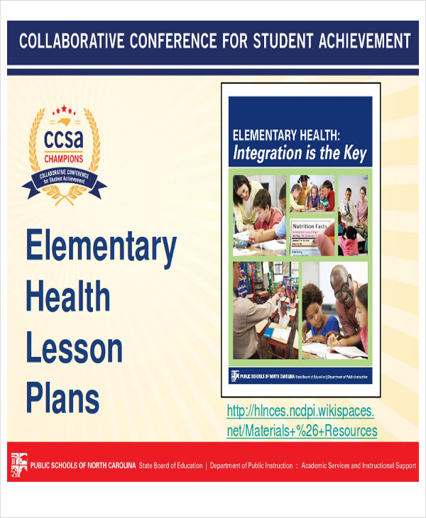 7 Sample Health Lesson Plans – Elementary Health Education Lesson Plans