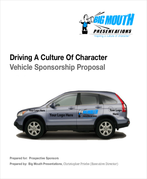 vehicle sponsorship proposal letter