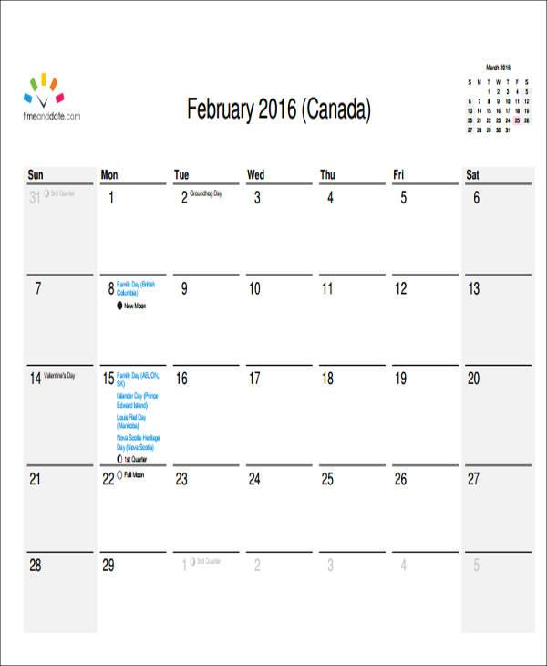 6 Free Sample Weekly Calendars Free Sample Example Format Download – Sample Weekly Calendar