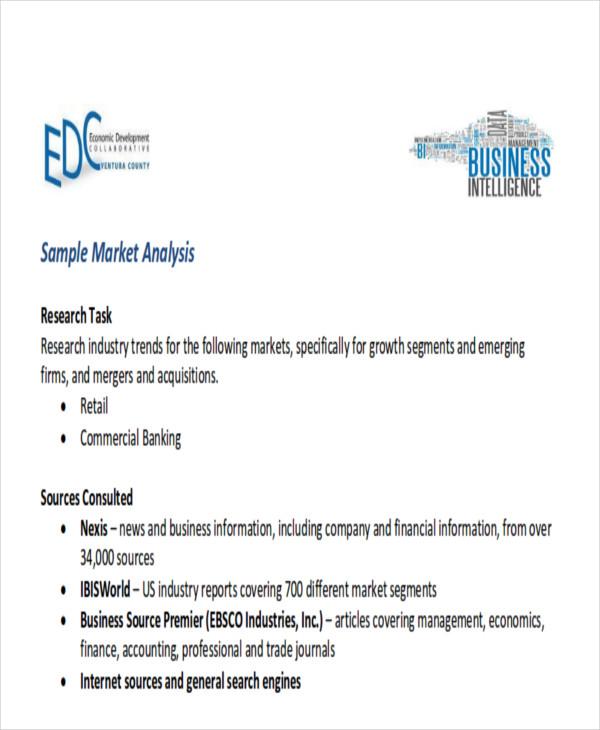 Sample Market Analysis   Sample Marketing Plan Market Analysis