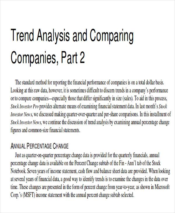 trend percentage analysis