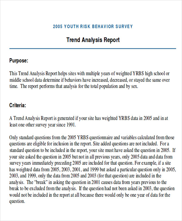 Trend Analysis Sample  Examples In Word Pdf