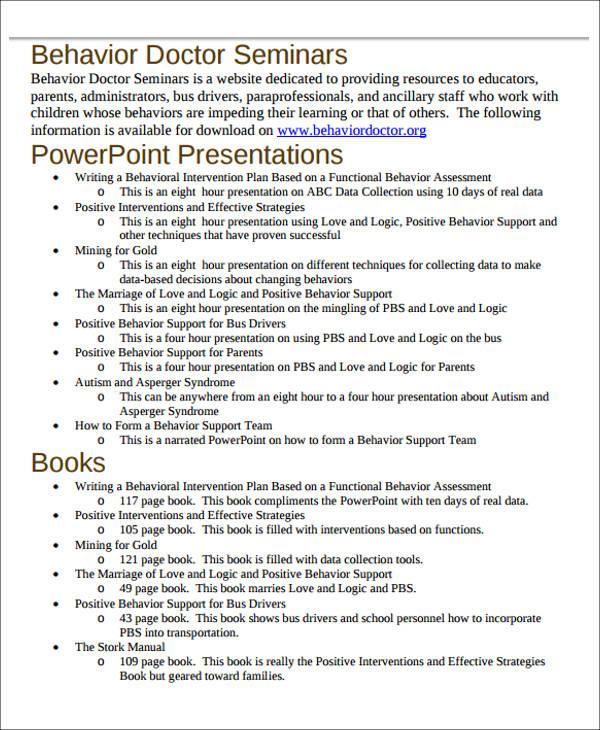 writing behavioral intervention plan pdf