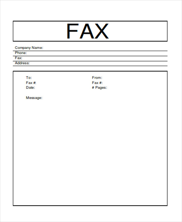 Sample Word Fax Cover Sheet  Examples In Word