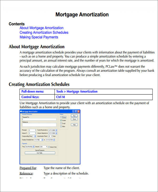 mortgage amortization spreadsheet pdf