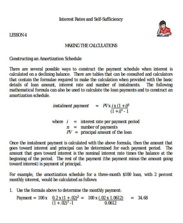 amortization calculator spreadsheet