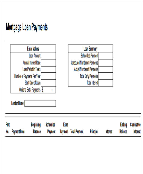 amortization spreadsheet with extra payments