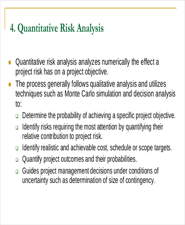 Sample Quantitative Analysis  Free Sample Example Format