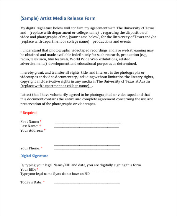 Best Photography Forms Images On media Release Form