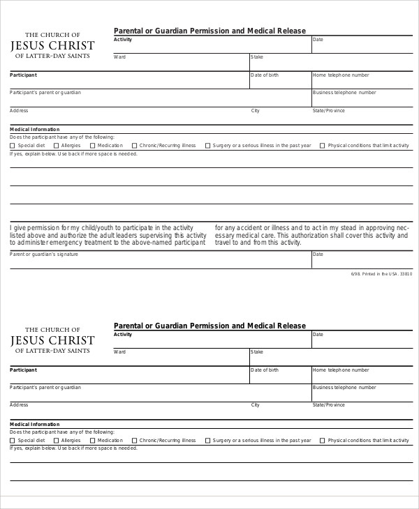 parent medical release form1