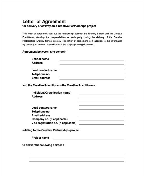 Agreement Letters Child Support Agreement Template 6 Free