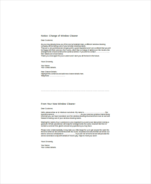 free 5  sample cleaning proposal letter templates in pdf