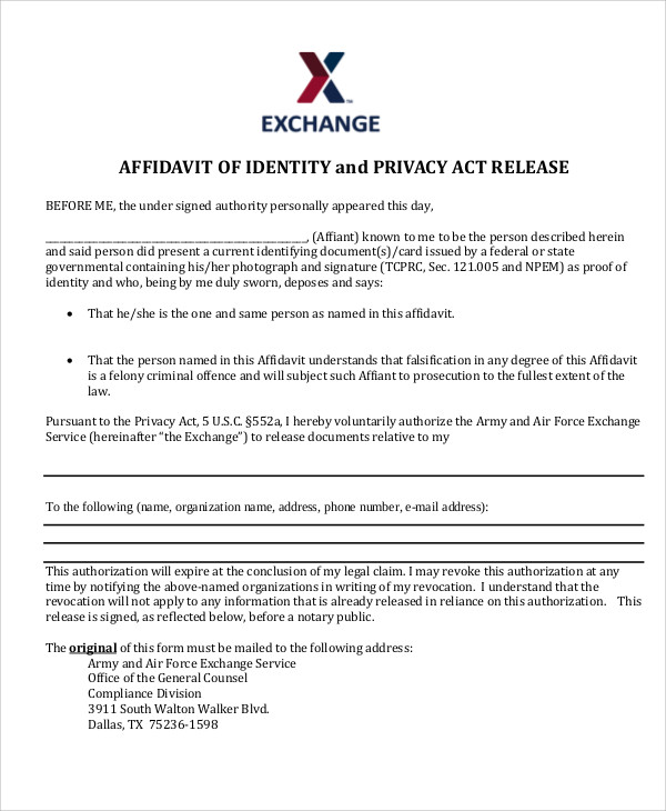 air force privacy act release form