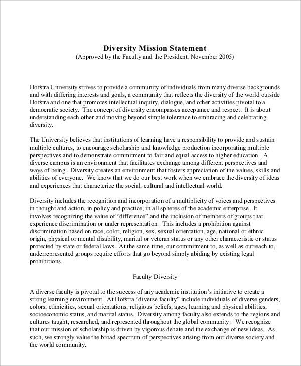 Don diversity policy statement for Diversity policy template