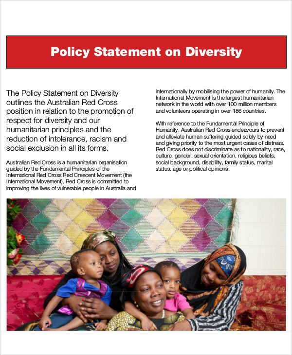 diversity policy statement example