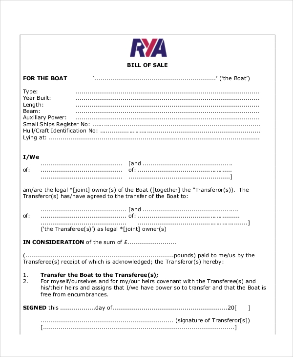 Bill Of Sale Form Motor Vehicle Bill Of Sale Form Vehicle Bill Of
