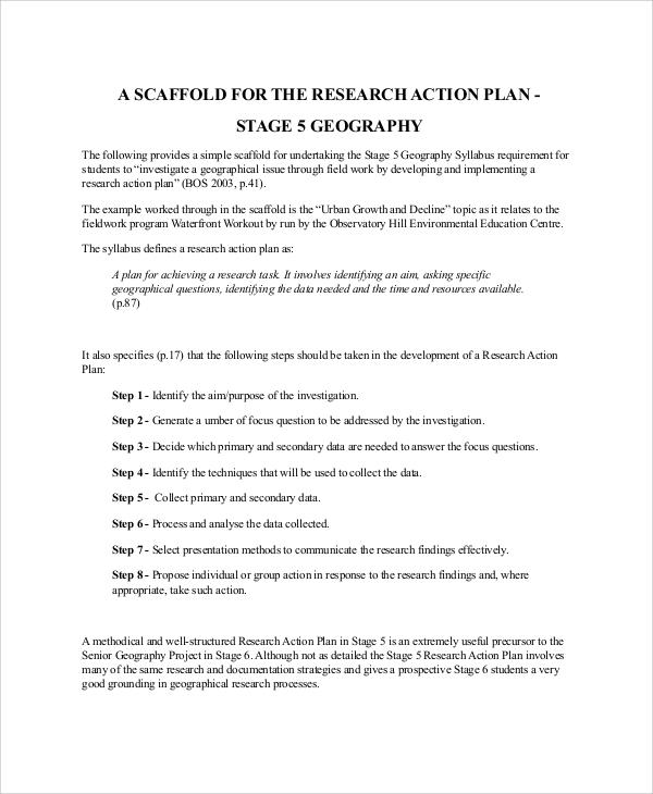 Action Plan Format Sample - 30+ Examples In Word, Pdf