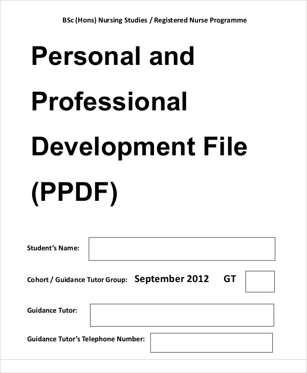 Professional Development Plan Sample   Examples In Word Pdf