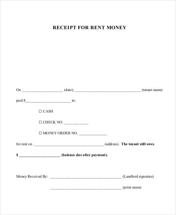 rent payment receipt form1
