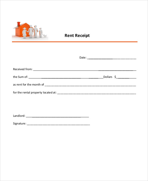 9 Rent Payment Receipt Examples in Word PDF – Rental Payment Receipt