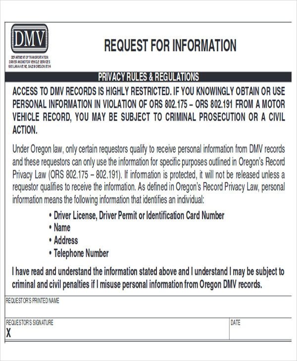 dmv release of information form567