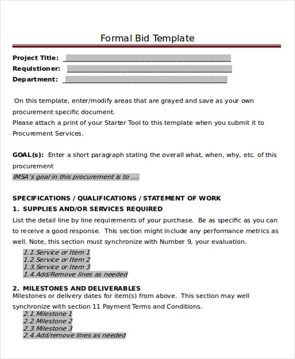 Free 8 Sample Formal Proposal Letter Templates In Pdf Ms Word