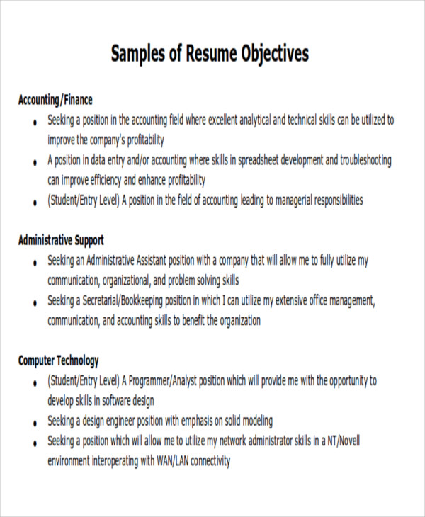 Sample Objective. Customer Service Resume S Le In Stylish Customer