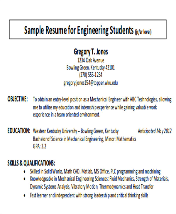 7 Career Objective Samples Sample Templates
