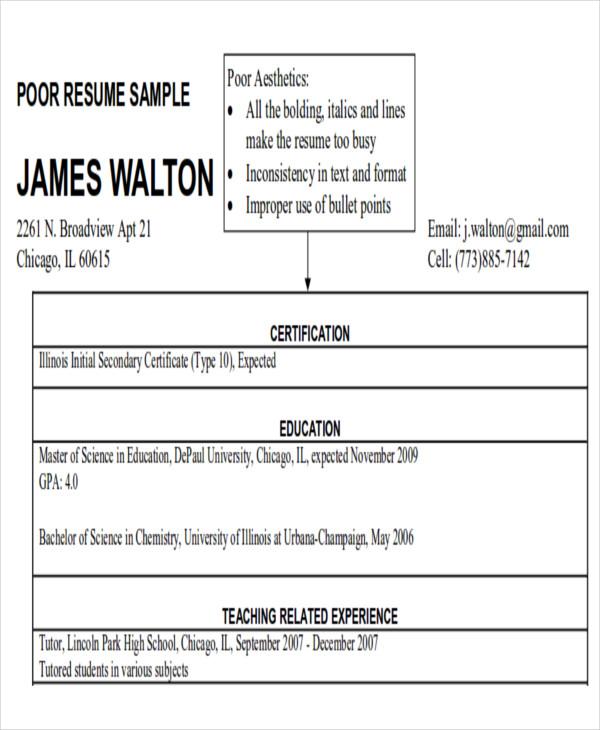 sample resume objectives for teachers
