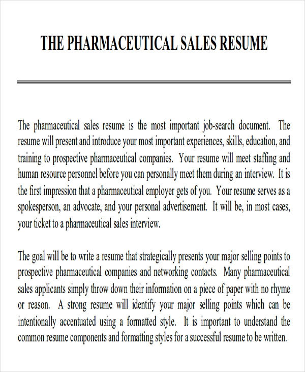 resume objectives for sales example