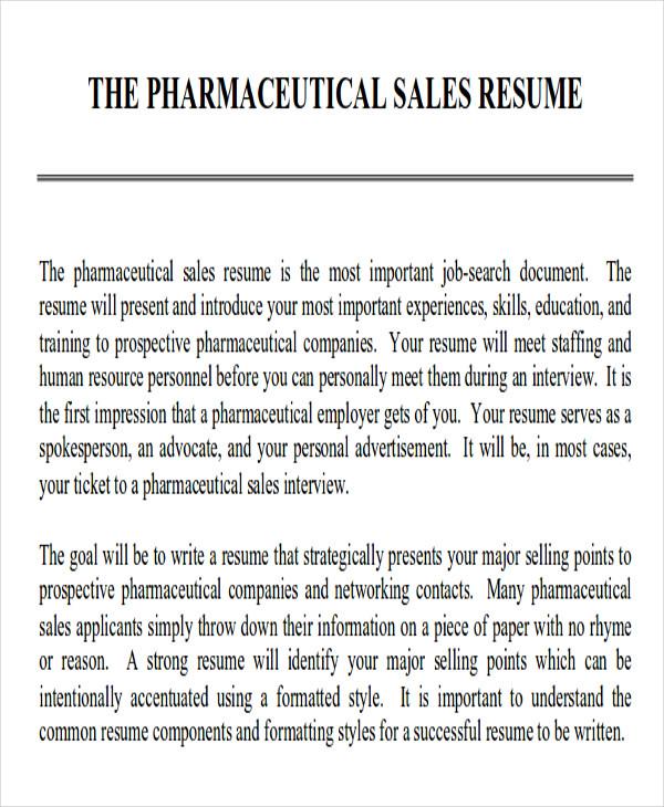 Pharmaceutical Resumes Objective Vosvetenet – Medical Sales Resume Objective